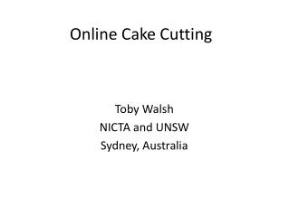 Online Cake Cutting