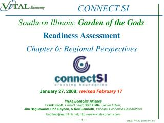 Southern Illinois:  Garden of the Gods Readiness Assessment Chapter 6: Regional Perspectives