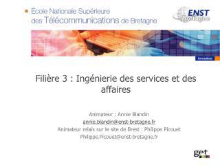 Filière 3 : Ingénierie des services et des affaires