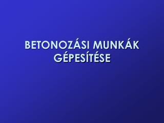 BETONOZ SI MUNK K G PES T SE