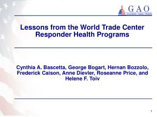 Lessons from the World Trade Center Responder Health Programs
