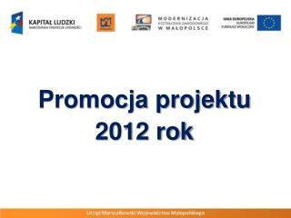 Promocja projektu  2012 rok