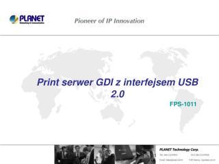 Print serwer GDI z interfejsem USB 2.0