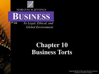 Chapter 10  Business Torts