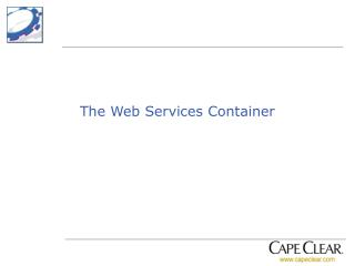 The Web Services Container