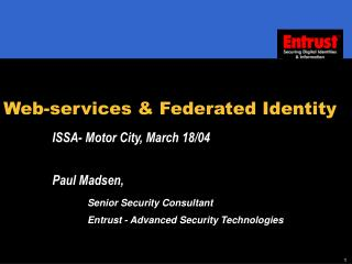 Web-services & Federated Identity
