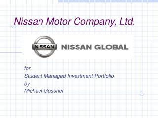 Nissan Motor Company, Ltd.