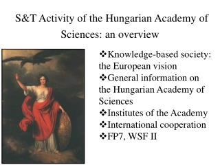S&T Activity of the Hungarian Academy of Sciences: an overview