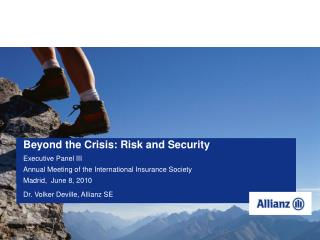 Dr. Volker Deville, Allianz SE