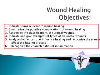 Wound Healing Objectives: