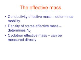 The effective mass