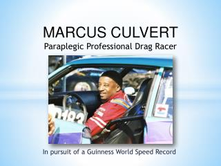 In pursuit of a Guinness World Speed Record