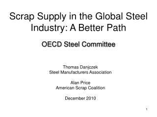Scrap Supply in the Global Steel Industry: A Better Path