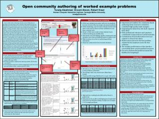 Open community authoring of worked example problems