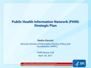 Public Health Information Network (PHIN) Strategic Plan