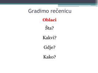Gradimo rečenicu
