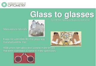 Glass to glasses