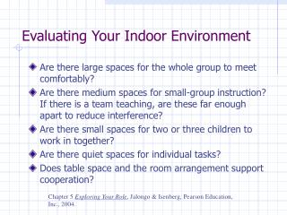 Evaluating Your Indoor Environment
