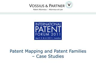 Patent Mapping and Patent Families – Case Studies