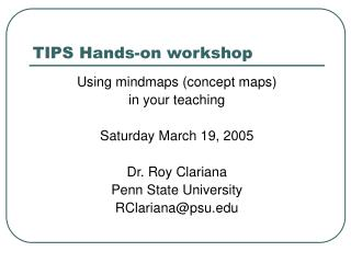 TIPS Hands-on workshop