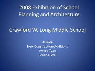 Crawford W. Long Middle School