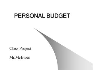 PERSONAL BUDGET