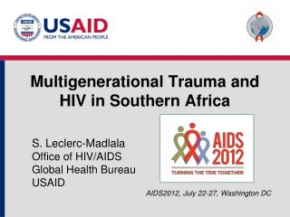 Multigenerational Trauma and HIV in Southern Africa