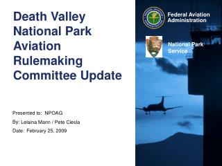 Death Valley National Park Aviation Rulemaking Committee Update