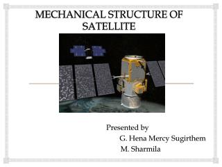 MECHANICAL STRUCTURE OF SATELLITE