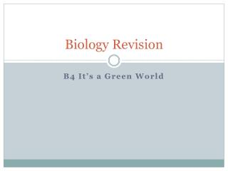 Biology Revision