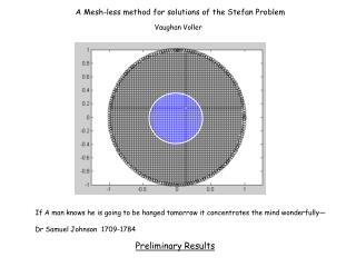A Mesh-less method for solutions of the Stefan Problem