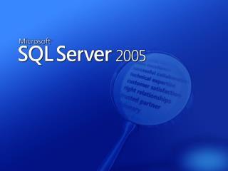 Generace MS SQL Serveru Historie inovací