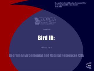 Bird ID: