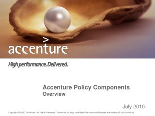 Accenture Policy Components Overview