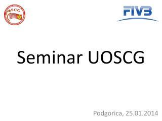 Seminar UOSCG