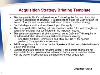 Acquisition Strategy Briefing Template