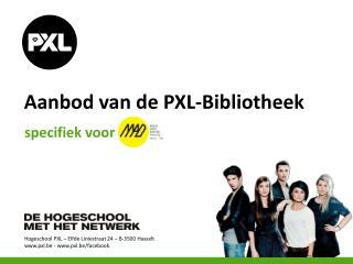 Aanbod van de  PXL-Bibliotheek