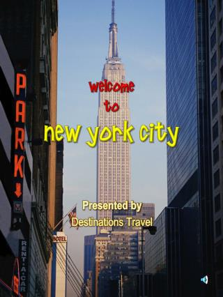 Welcome  to  New York City