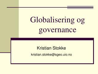 Globalisering og governance