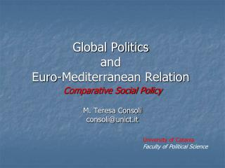 Global Politics  and  Euro-Mediterranean Relation