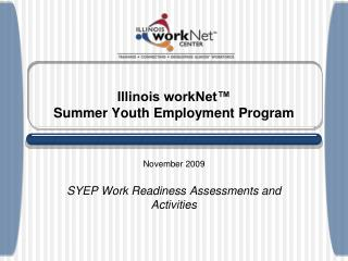 Illinois workNet™ Summer Youth Employment Program