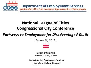 National League of Cities  Congressional City Conference