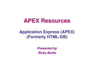 APEX Resources