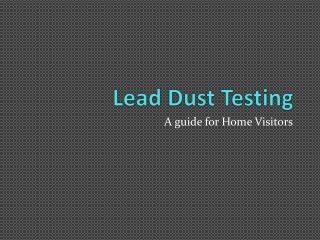 Lead Dust Testing