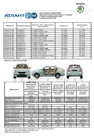 ООО «АТЛАНТ-М АЛЕКСЕЕВКА» Официальный дилер Skoda Auto a.s. в Украине