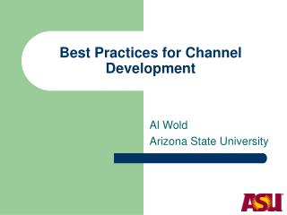 Best Practices for Channel Development