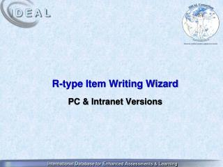 R-type Item Writing Wizard PC & Intranet Versions