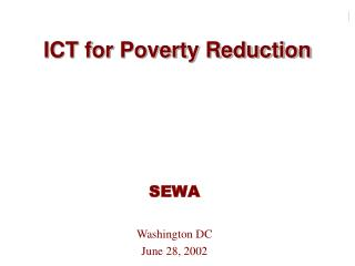 ICT for Poverty Reduction