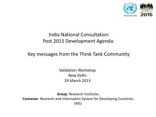 Validation Workshop New Delhi  19 March 2013