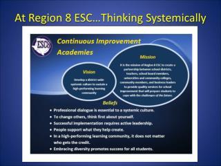 At Region 8 ESC…Thinking Systemically